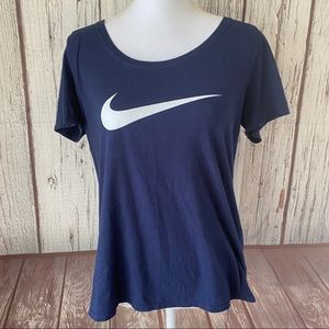 Nike navy blue Tee size medium